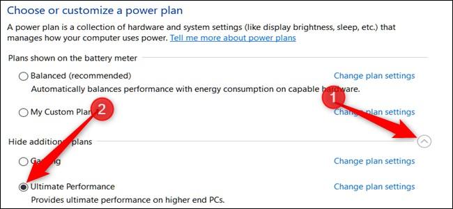 Bật Ultimate Performance trên Win 10 để tăng tốc máy tính