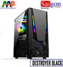 CASE AAP DESTROYER Black-White GAMING LED RGB