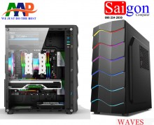 CASE AAP WAVES GAMING LED RGB Phía Trước