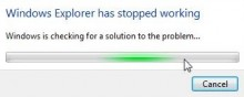 Máy bị lỗi windows explorer has stopped working