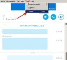 Hướng dẫn bỏ hiển thị thời gian khi chat Skype
