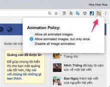 Chặn ảnh động trên Google Chrome giúp trình duyệt nhanh hơn