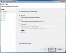 Chặn Internet với ứng dụng Firewall của Windows 7