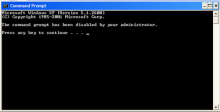 Lỗi CMD The command prompt has been disabled by your Administrator