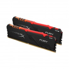 Ram PC Kingston HyperX Fury RGB 32GB 3200MHz DDR4 (2x16GB) HX432C16FB3AK2/32