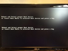 "Khắc phục sửa lỗi ""reboot and select proper boot device or insert boot media in selected boot device"""