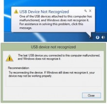 Khắc phục lỗi USB Device Not Recognized trên Windows 10, 8.1,7