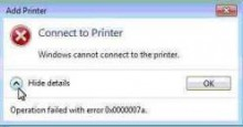 "Máy tính báo lỗi ""Windows cannot connect to the printer"""