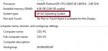 Sự khác nhau giữa Window 32bit và 64bit