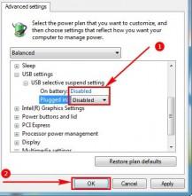 Tắt chế độ ngắt USB của Windows