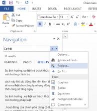 Hướng dẫn thay thế hàng loạt từ trong Office