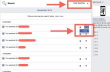 Xóa kết quả tìm kiếm trên mạng xã hội Facebook