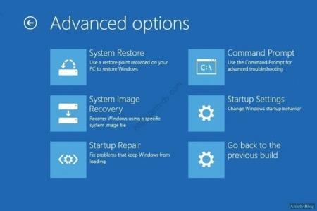 Cách truy cập Advanced Options Windows 10/8.1/8