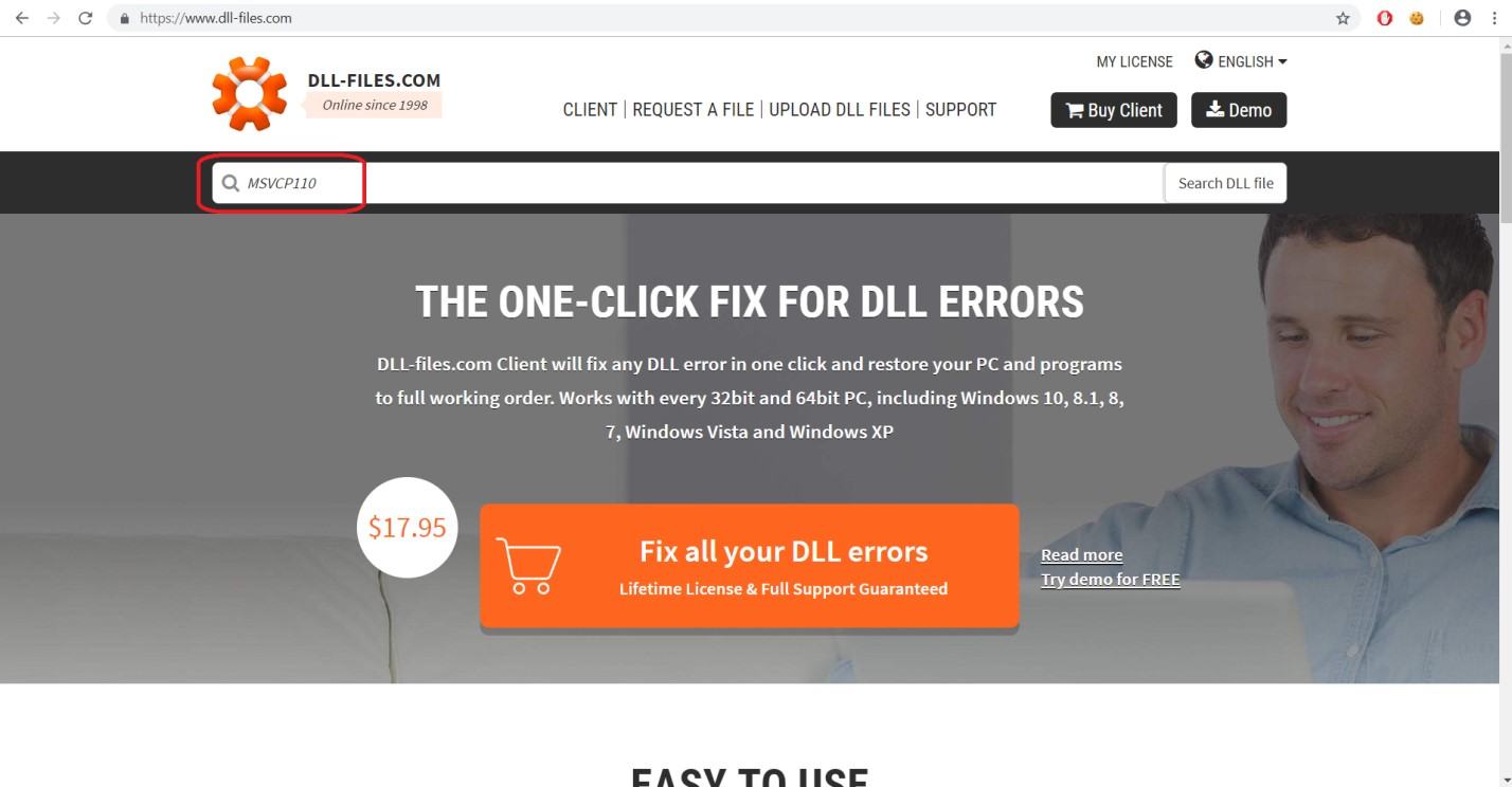 Khắc phục lỗi thiếu file .DLL